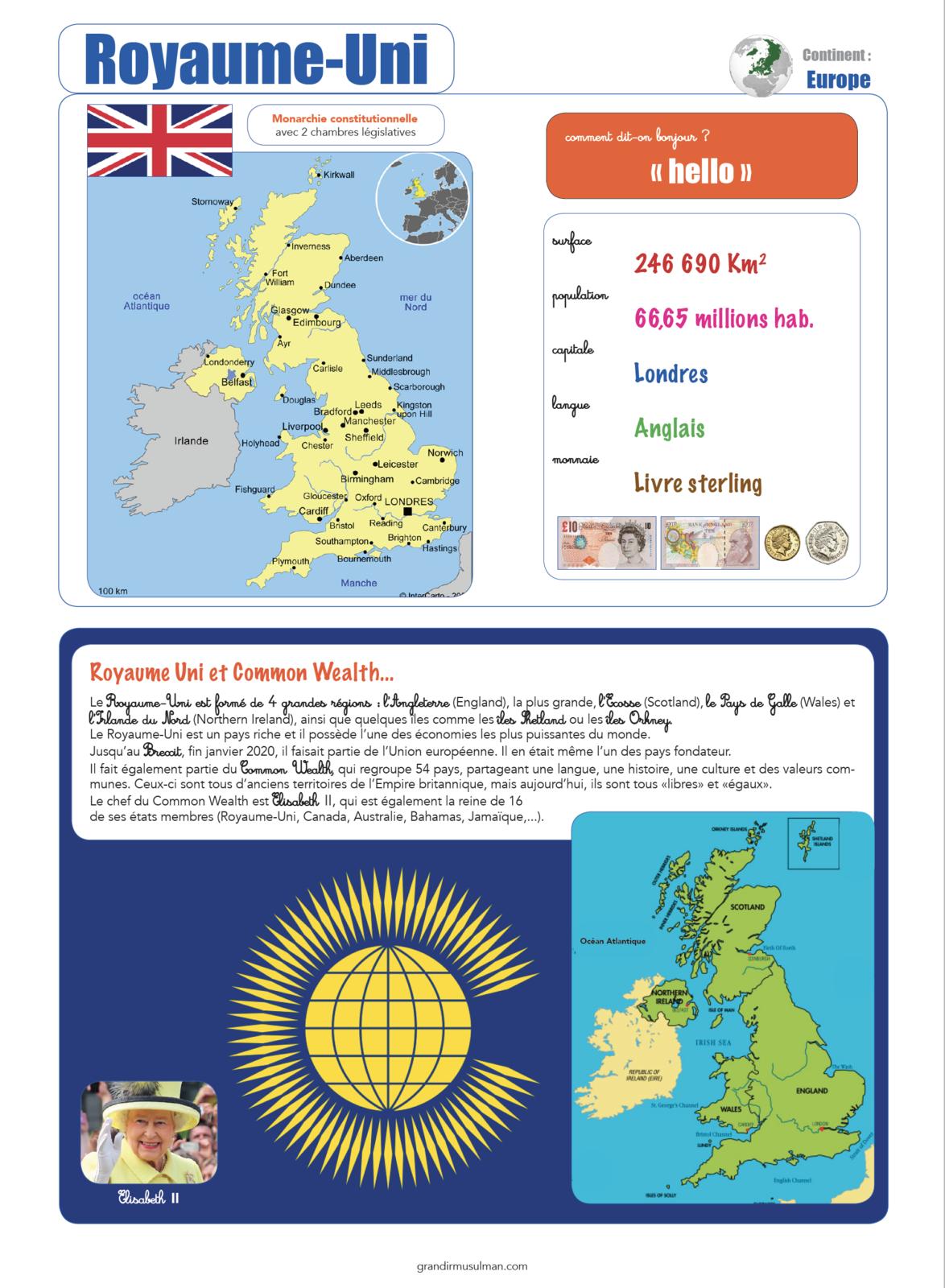 Notre tour du monde : Royaume-Uni