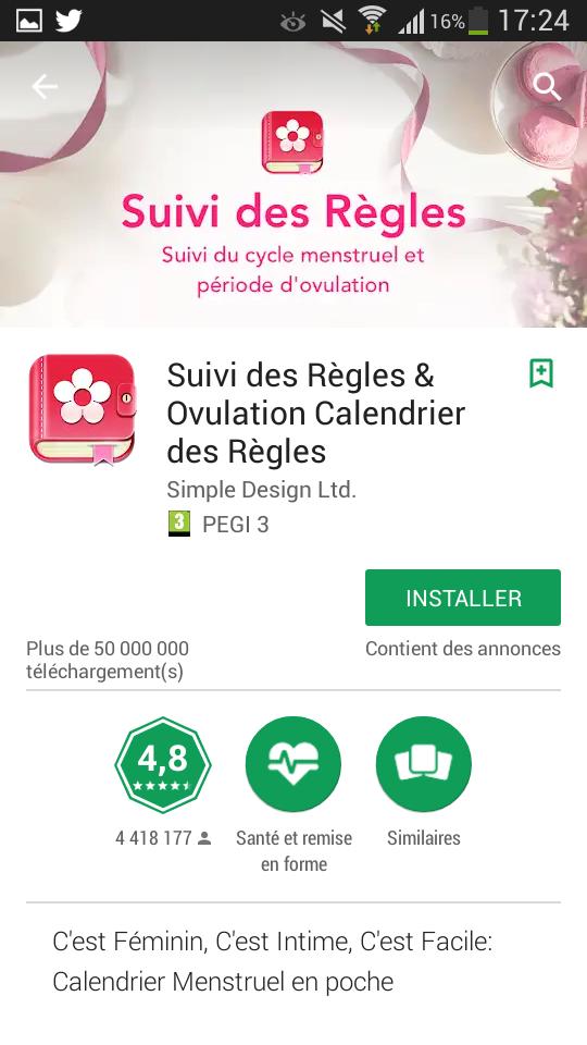 Calendrier Pour Les Regles.Avis L Application Suivi Des Regles Ovulation Ado Dans