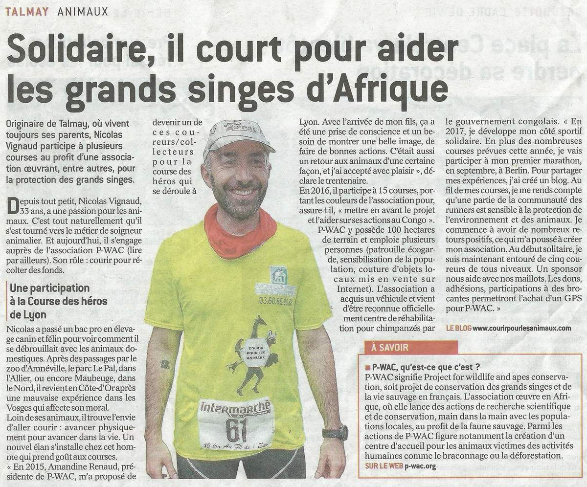 article de journal Le Bien Public du 25/05/2017