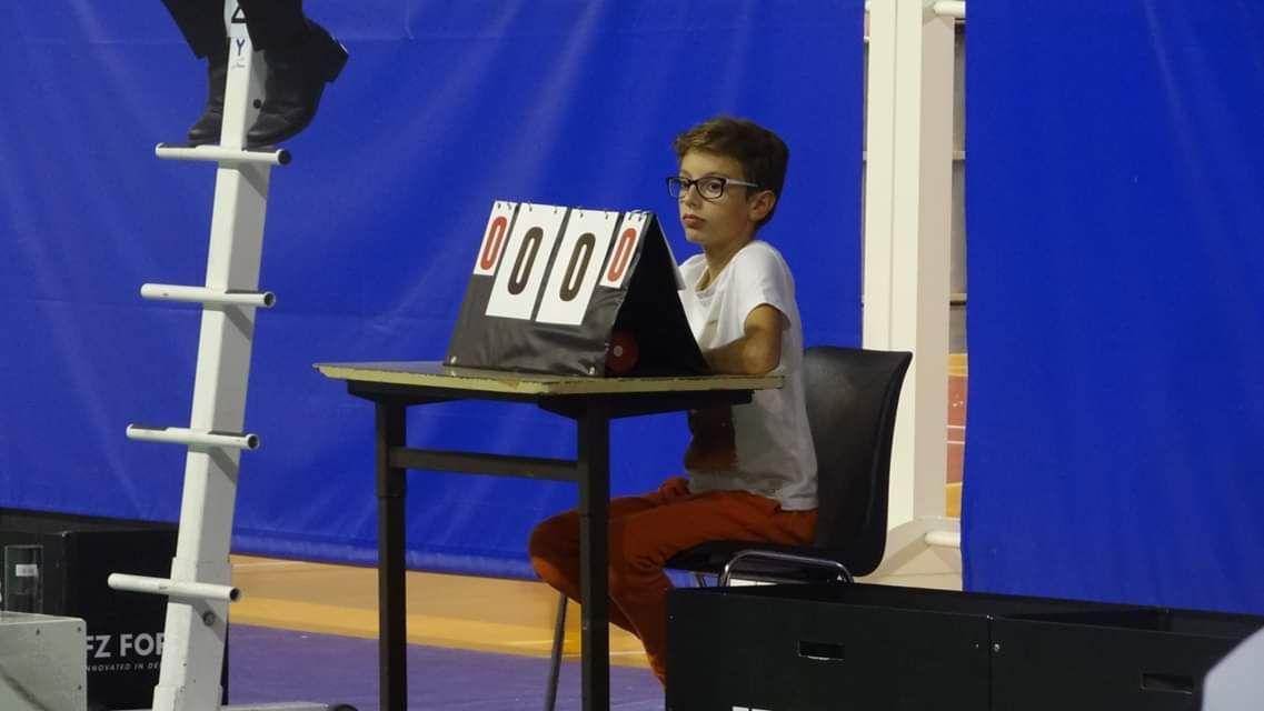 Aurélien a fait scorer sur le TOP 12 (ligue 1 du badminton)