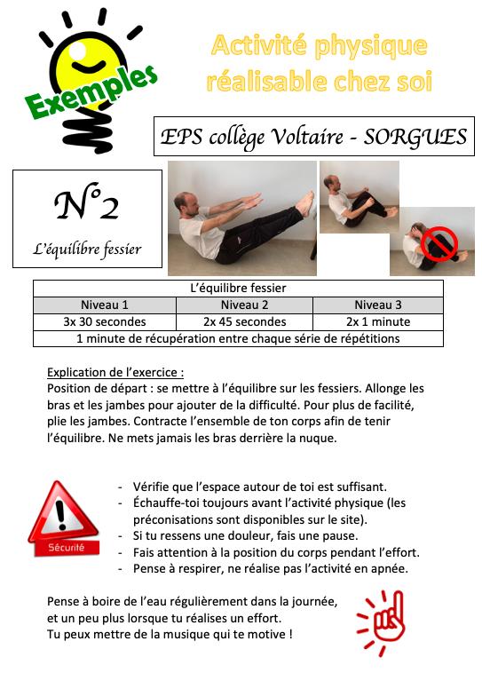 Exemples d'activité physique possible 2