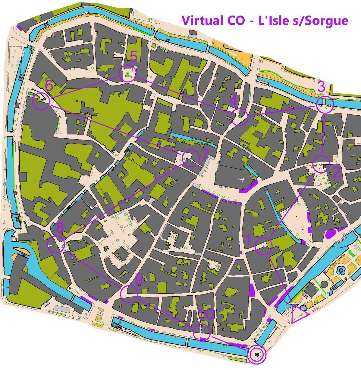Course d'orientation Virtuelle