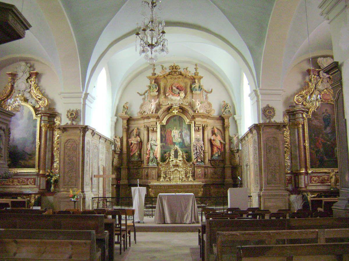 Le retable de l'église Saint Valentin de Lavoncourt ( Photo Abeille et petites mains)