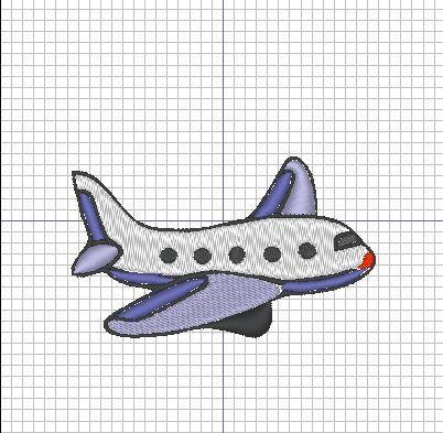 Broderie machine : Avion 2