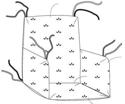 patron gratuit couture coussin de chaise haute