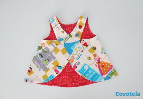 patron gratuit couture tablier enfant bébé