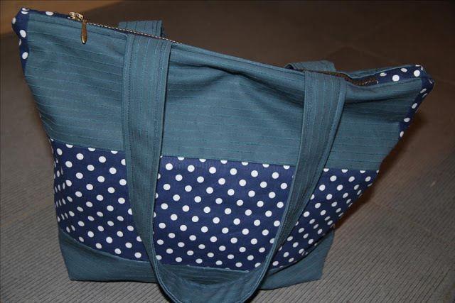 patron couture gratuit sac zippé