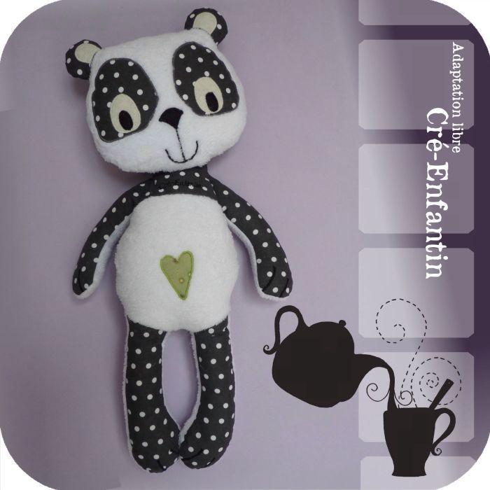 patron couture gratuit doudou panda