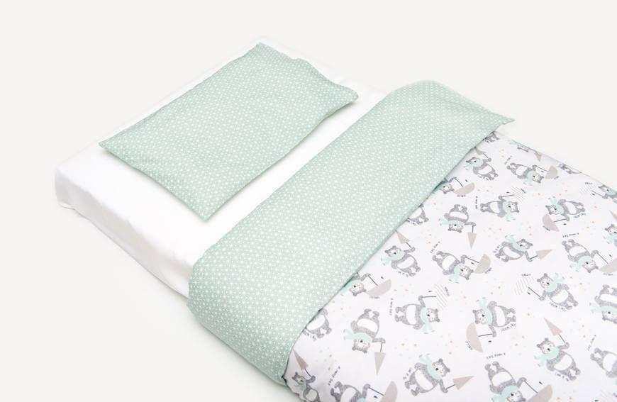 Patron couture gratuit housse de couette et taie d'oreiller pour lit bébé
