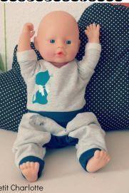Patron couture gratuit sweat multi versions pour poupée