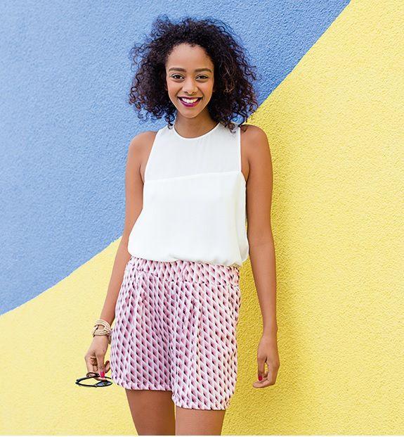Patron couture gratuit short Zoey