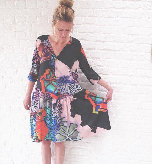 Patron couture et tutoriel gratuits robe Caroline