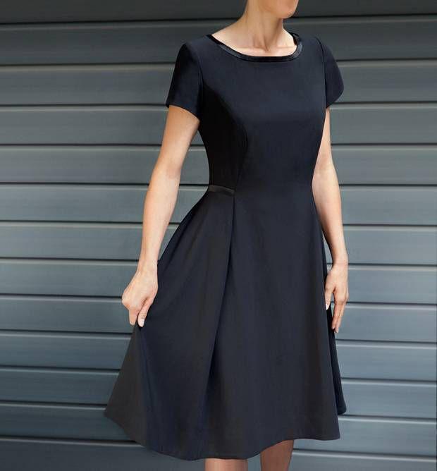 Patron et tutoriel gratuit petite robe noire