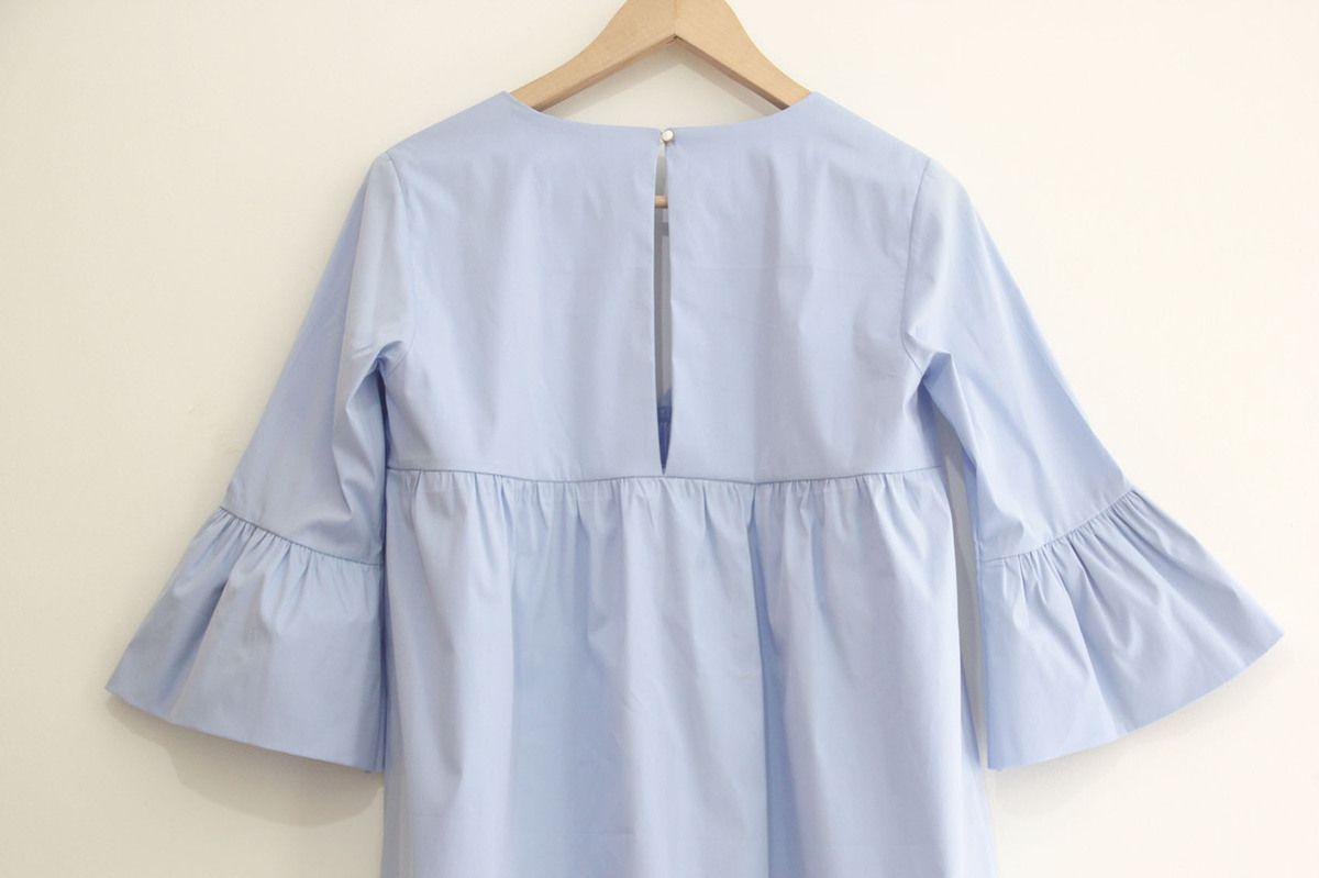 Tunique ou robe avec manches volantées