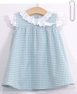 Patron et tutoriel couture gratuits robe vichy pour enfant