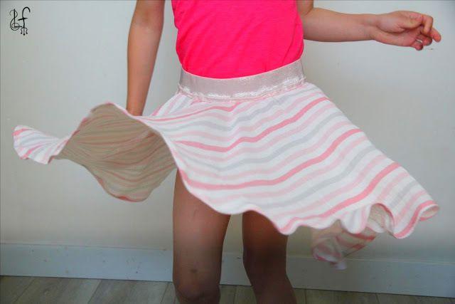 Patron et tutoriels gratuits jupe Plume pour toutes les filles