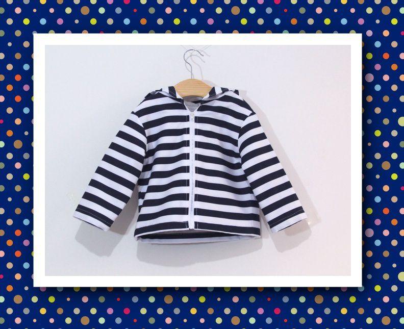 Patron et tutoriel couture gratuits veste sweat pour enfant
