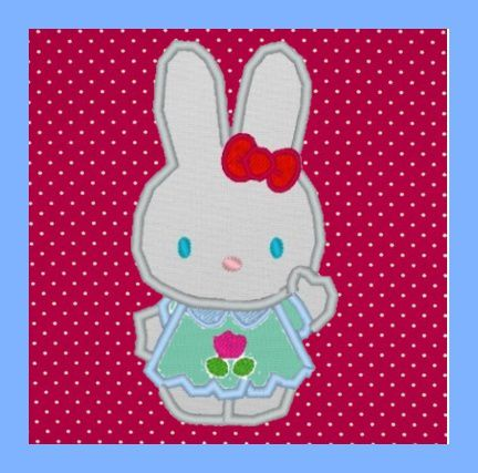 Appliqué gratuit pour machine petit lapin