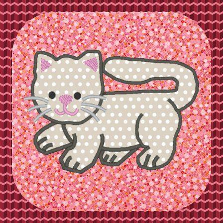 Appliqué gratuit pour machine petit chat