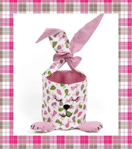 Patron et tutoriel gratuits panier lapin pour Pâques