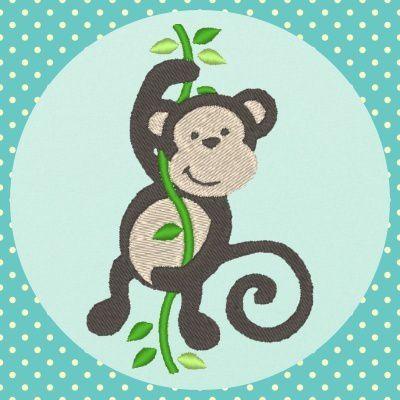 Broderie machine gratuite singe