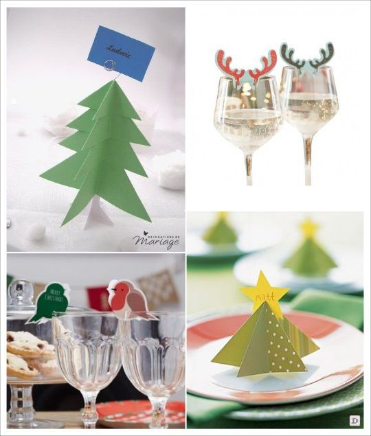 marque place noel diy sapin renne