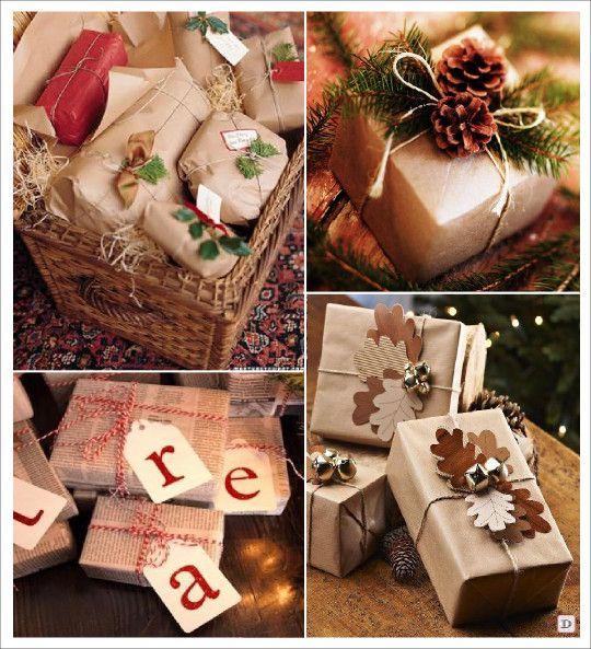 emballage cadeau noel papier kraft