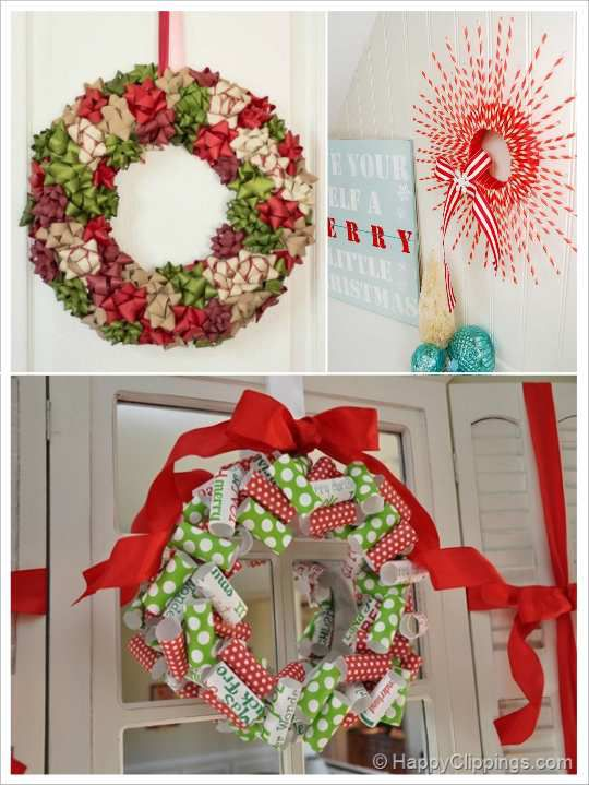 Diy couronne de noel r aliser soi m me f tes de no l for Noeud decoration noel