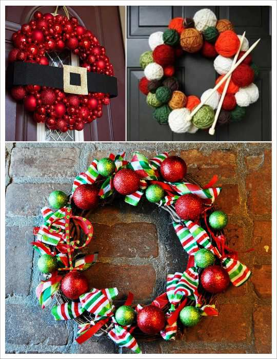 Diy couronne de noel r aliser soi m me f tes de no l for Decoration couronne de noel