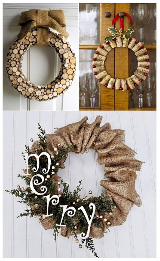 diy couronne de noel r aliser soi m me f tes de no l. Black Bedroom Furniture Sets. Home Design Ideas