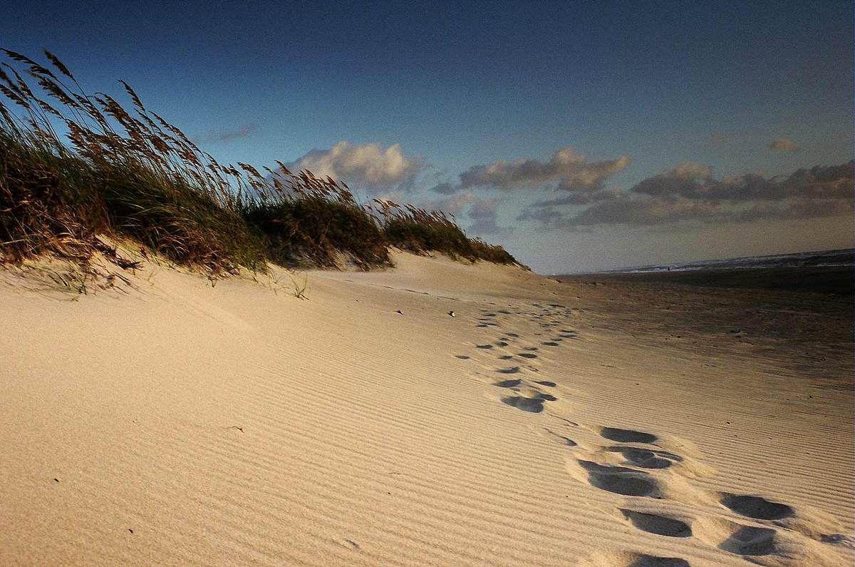 Nos pas dans le sable...