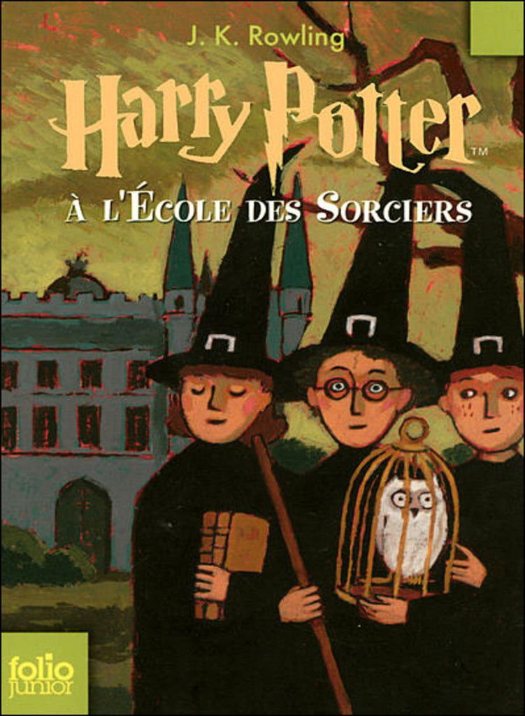 Couverture Harry Potter 1. Ecole des sorciers. Ron. Hermione