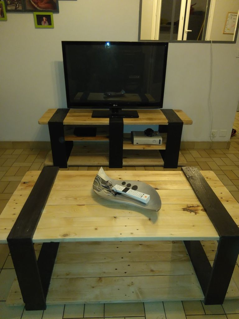 """Meuble Tv Table Basse Assorti banc tv + table basse assortis """"duo"""" - lapaletteaidees.over"""