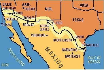 The Us Mexico Border Barrier Or Contact Zone Assis Au Bord Du Monde
