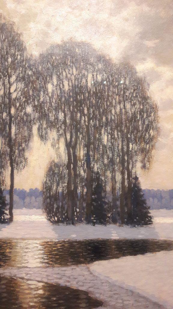 VilhemsPurvitis, Hiver (vers 1908, détail). Riga, Musée national des Beaux-arts de Lettonie. DR