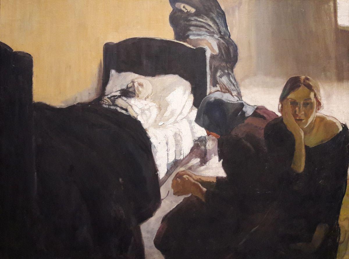 Peet Aren, Auprès du malade (1920). Tallin, musée d'Art d'Estonie.DR