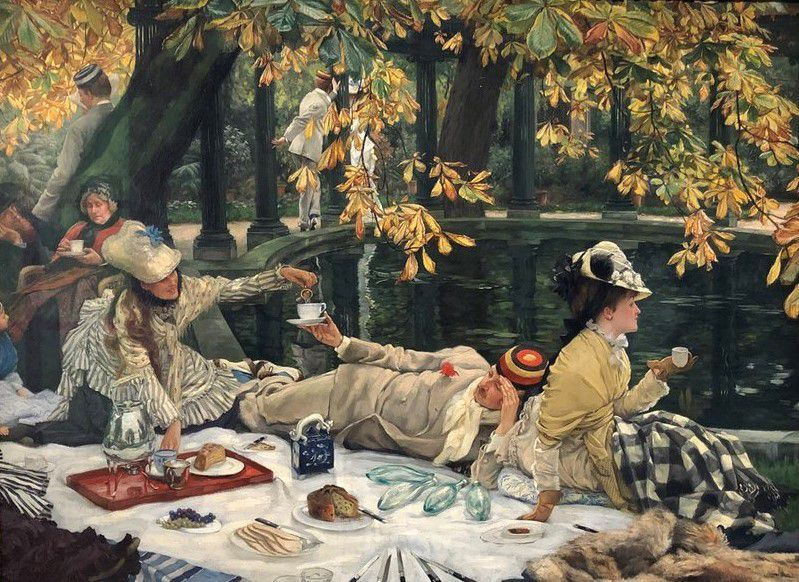 JamesTissot, Vacances (vers 1876, Londres, Tate Britain)