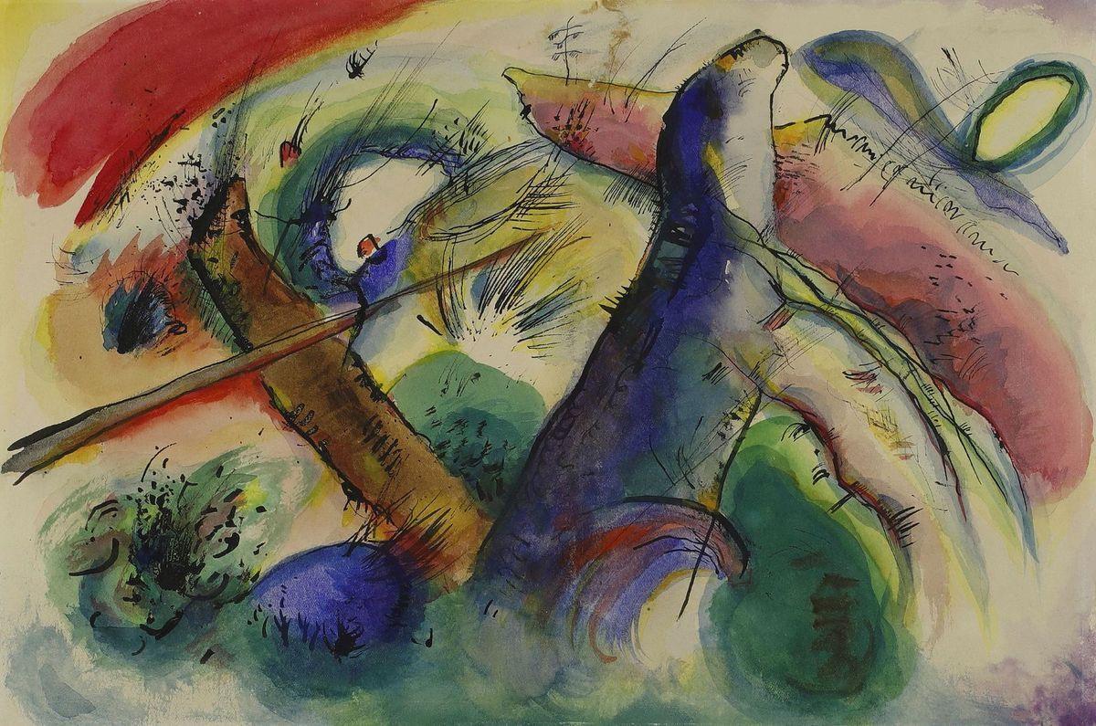 Vassili Kandinsky, Composition E (vers 1915)