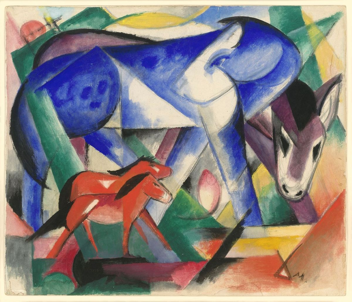 Franz Marc, The First Animals, 1913 [Les premiers animaux]. Gouache and pencil on paper. Private Collection, courtesy Neue Galerie New York © Neue Galerie, New York
