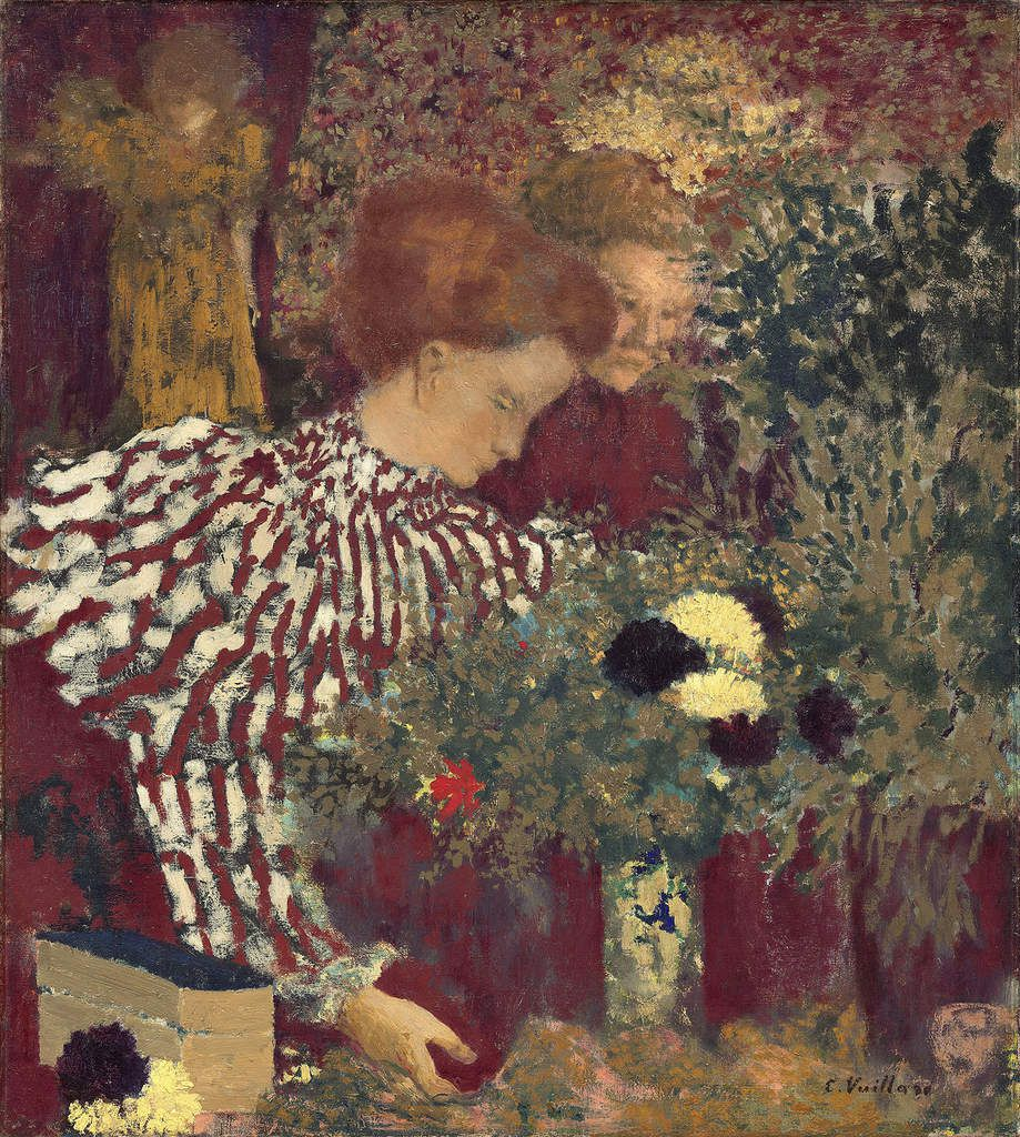 Edouard Vuillard Le Corsage rayé 1895 huile sur toile 65,7 x 58,7 cm Washington, National Gallery of Art, Collection of Mr. and Mrs. Paul Mellon, 1983.1.38 © Washington, National Gallery of Art