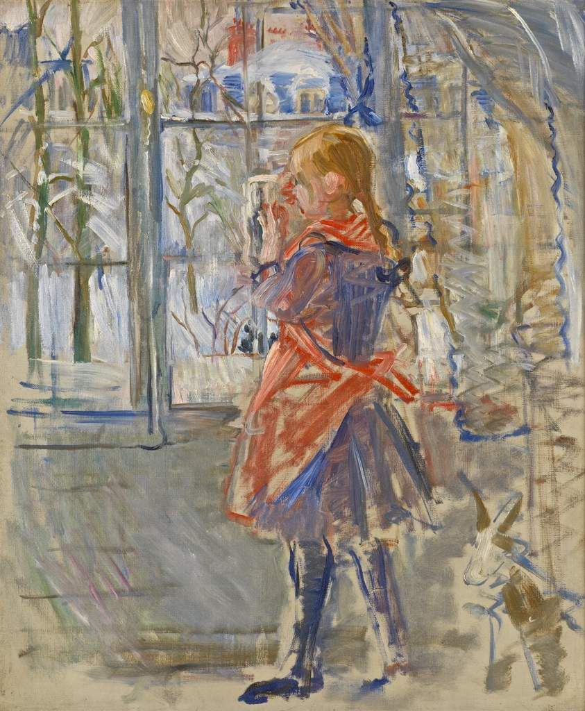 Enfant au tablier rouge (1886). Providence, Rhode Island School of Design Museum