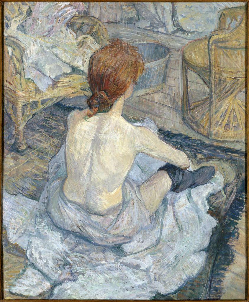 Rousse (la Toilette). 1889, huile sur carton 67 x 54 cm, Paris, musée d'Orsay. © Rmn-Grand Palais (musée d'Orsay) / Hervé Lewandowski