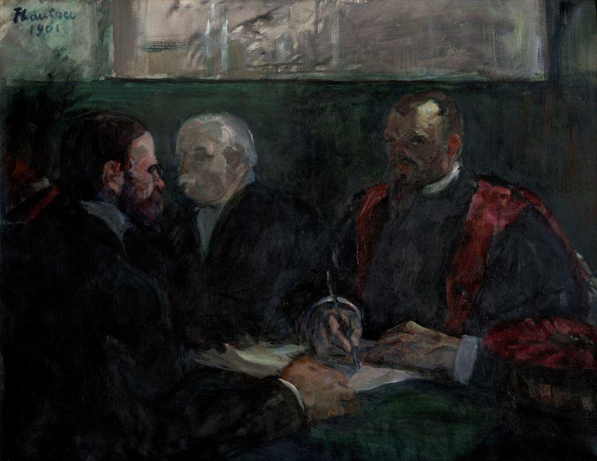 Un examen à la faculté de médecine. 1901, huile sur toile 61,5 x 80,5 cm, Albi, musée Toulouse-Lautrec. © Musée Toulouse-Lautrec