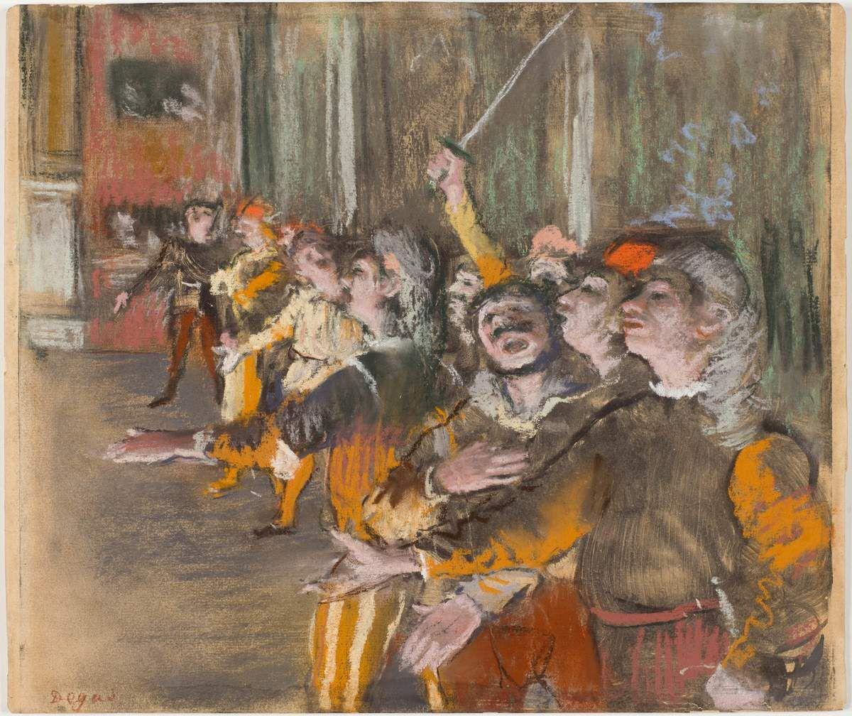Les Choristes,1877 Pastel sur monotype, 27 x 32 cm Paris, musée d'Orsay, RF 12259 Photo © Musée d'Orsay, Dist. RMN-Grand Palais / Patrice Schmidt
