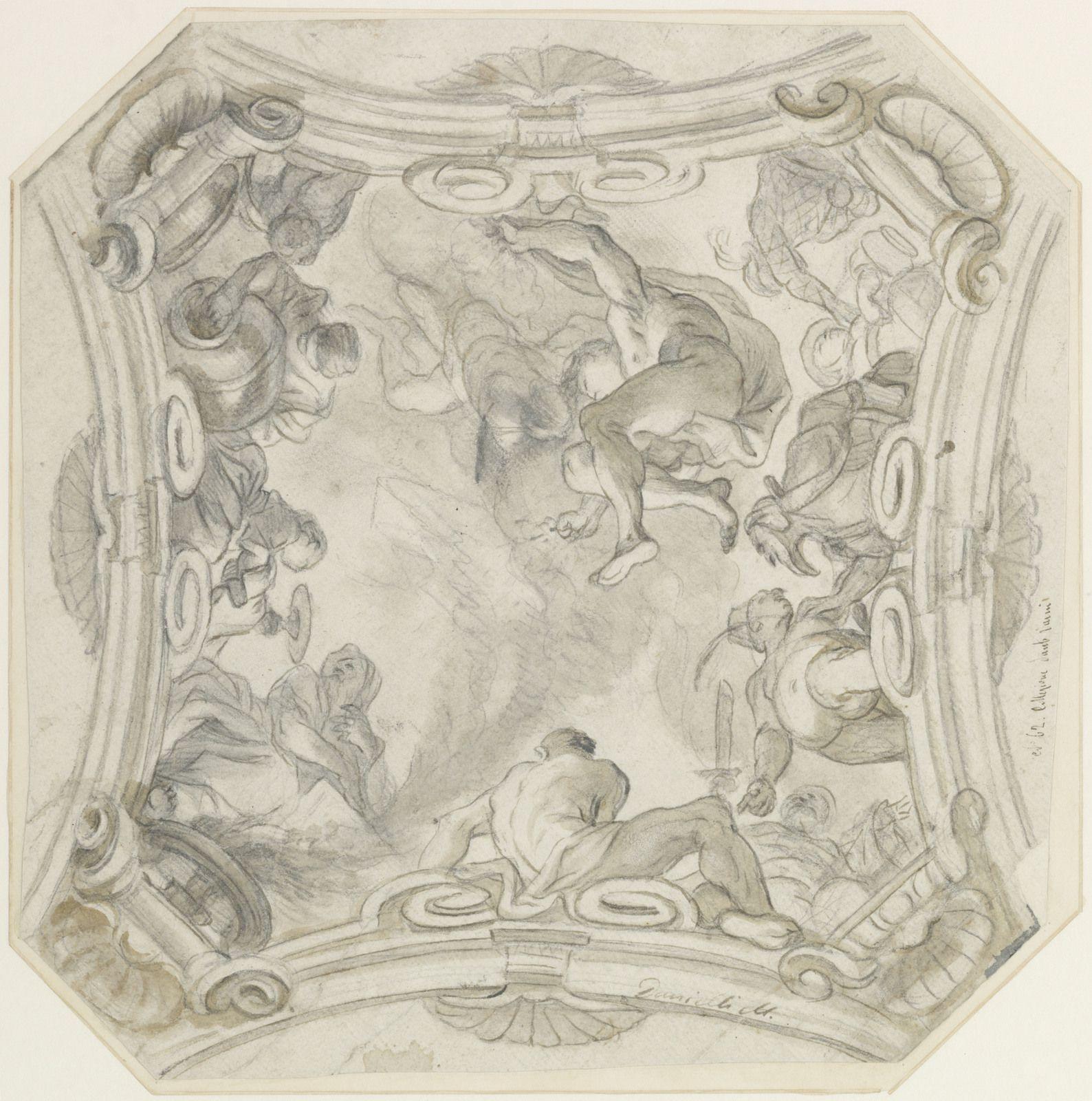 Federico Barocci (Urbino v. 1526/35 – 1612 Urbino), Tête d'un homme barbu, inclinée vers le bas, et étude de main. Pierre noire, sanguine et craie blanche. – 407 × 269 mm Fondation Custodia, Collection Frits Lugt, Paris, inv. 472