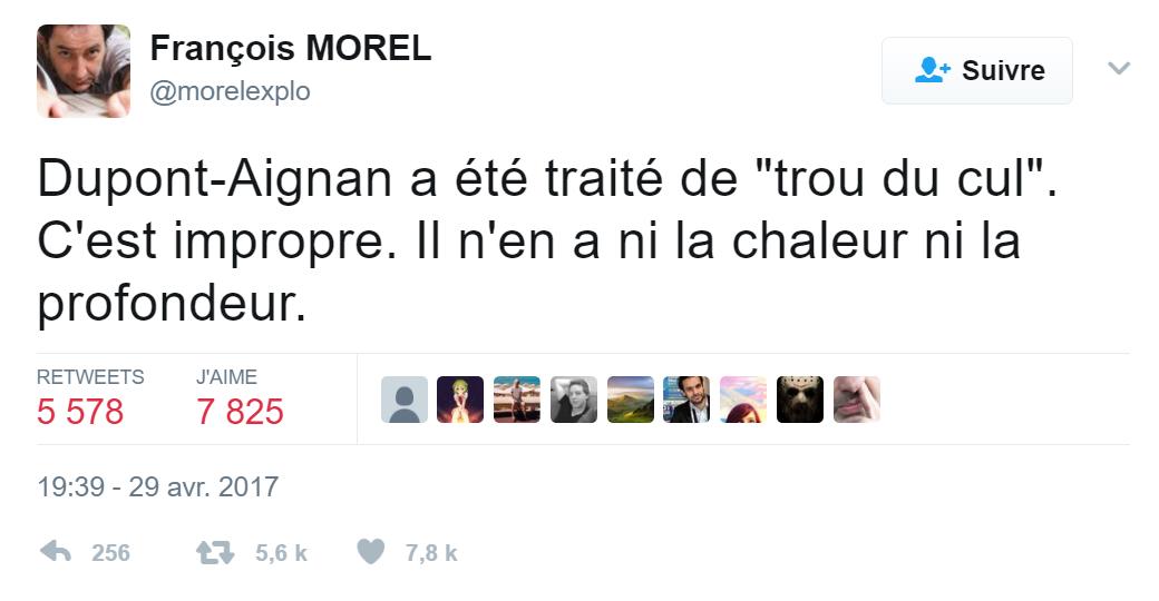 Malgré les menaces de procès, de plus en plus de stars se lâchent contre Nicolas Dupont-Aignan sur Twitter