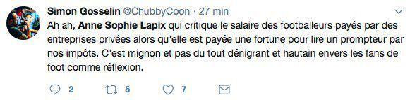 """Mondial 2018 : Anne-Sophie Lapix s'excuse après avoir traité au 20h de France 2 les footballeurs """"de millionnaires qui courent après un ballon"""""""