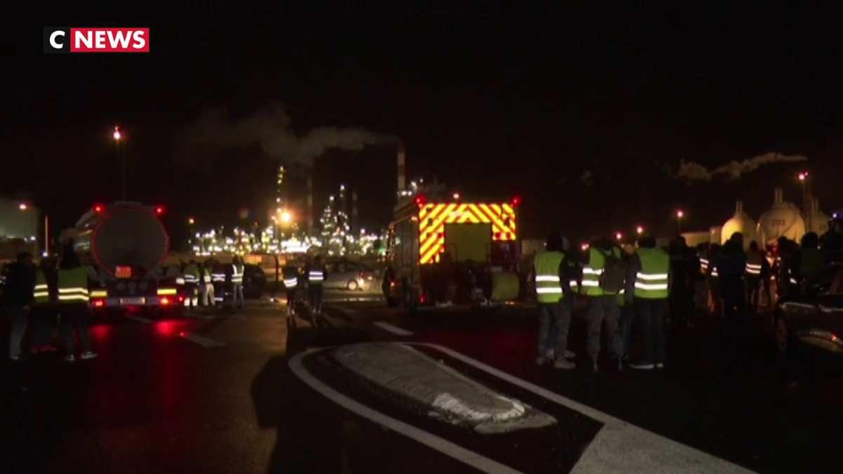 Gilets Jaunes : La raffinerie de Grandpuits bloqué