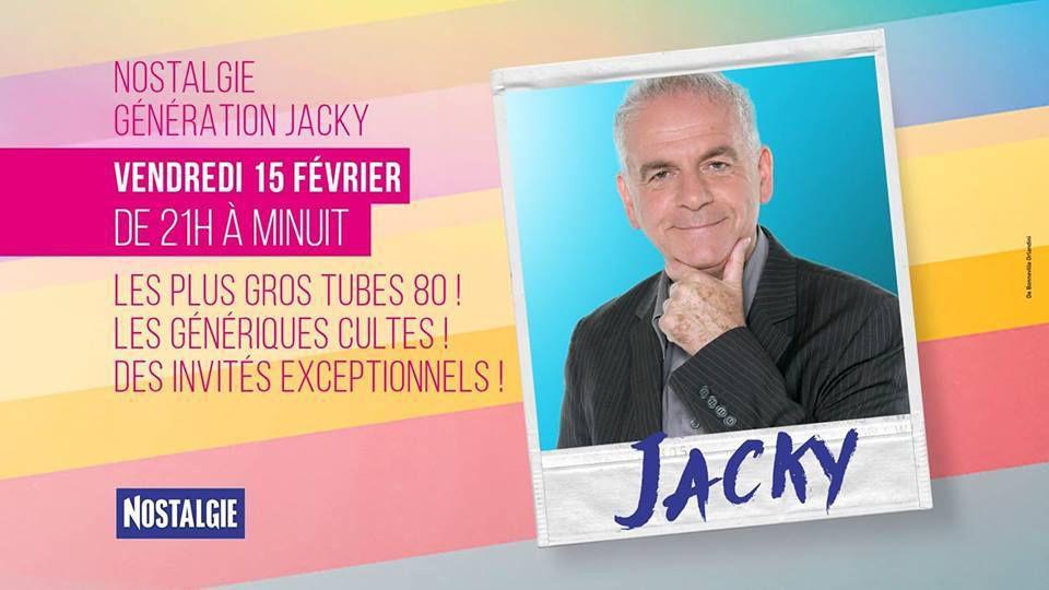 Jacky débarque sur Nostalgie le vendredi 15 février de 21h à minuit pour une soirée exceptionnelle