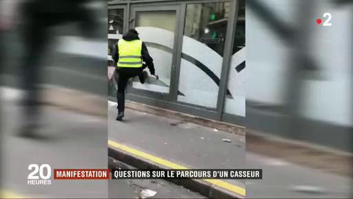 Gilets jaunes - Pourquoi la police a-t-elle laissé agir samedi un casseur qu'elle a pourtant repéré et suivi pendant plus de 4h ?